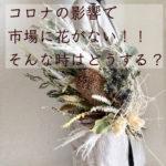 お家で過ごそう:コロナの影響。市場に花がない!!どうする??